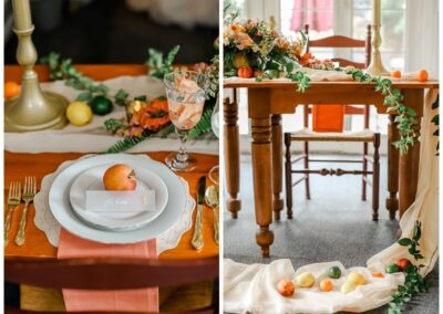 Table Setting with Fruit
